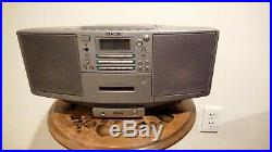 RARE SONY ZS-D5 Portable Boombox Stereo CD Player Cassette Tape Radio MD Link