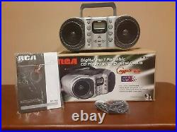 RCA RCD 160 AM/FM Portable Boombox Radio CD Player Digital MP3 Twin Bass