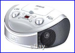 RCA RCD331WH Portable CD Player with AM/FM Radio White