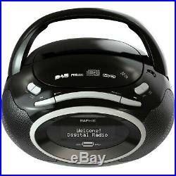 Raphie BP40 Portable Digital Radio DAB/DAB+ FM, Premium CD Player Boombox, MP