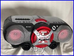 Rare Vtg Sony Xplod CD Player Cassette Am/fm Radio Portable Boombox Cfd-g505