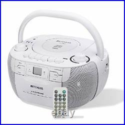 Retekess TR621 CD and Cassette Player Combo Portable Boombox AM FM Radio MP3