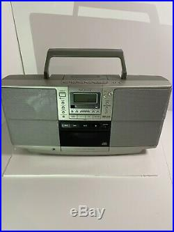 Retro Sony ZS-D50 CD/Cassette Player/radio Portable Boombox FULLY WORKING