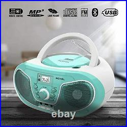 Roxel RCD-S70BT Portable Boombox CD Player with Bluetooth, Remote Control, FM Ra