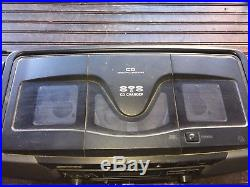 SHAPR Portable Stereo Boombox Dual Cassette CD AM FM Player Radio WQ-CH800