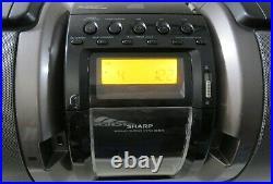 SHARP GX-M10 PORTABLE STEREO SYSTEM BOOMBOX Dock/Radio/CD Player