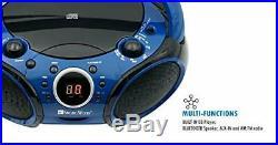 SINGING WOOD CD, CD-R/RW Boombox Portable/w Bluetooth Player (Starlight Blue)