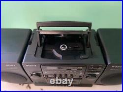 SONY CFD-510 CD/Radio/Cassette Player Boom Box Portable Stereo Mega Bass