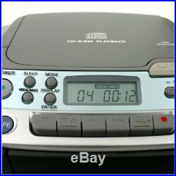 SONY CFD-S01 CD Radio Cassette Player FM/AM Portable Boombox Mega Bass Serviced
