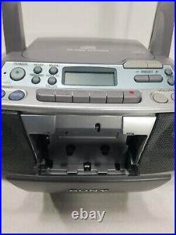SONY CFD-S01 CD Radio Cassette Player Recorder FM/AM Portable Boombox Mega Bass