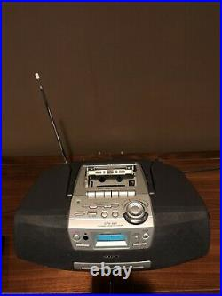 SONY CFD-S47 Portable Radio CD Cassette Tape Player Recorder Boombox With Remote