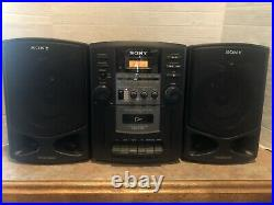 SONY CFD-Z130 Portable Boombox Stereo AM FM CD Cassette Player PROJECT READ