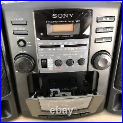 SONY CFD-Z130 Portable Boombox Stereo AM FM CD Cassette Player- READ DESCRIPTION