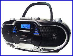 SUPERSONIC PORTABLE MP3/CD PLAYER WITH CASSETTE RECORDER & AM/FM RADIO