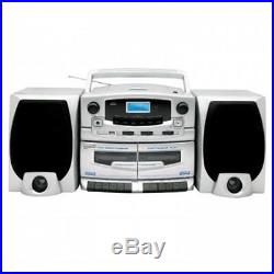 SUPERSONIC Portable MP3-CD Player with Cassette Recorder AM-FM Radio & USB Input