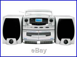 SUPERSONIC SC-2020U Portable MP3/CD Player Dual Cassette Recorder AM/FM Radio
