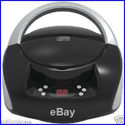 SYLVANIA black Portable CD Boom Box with AM FM Radio portable player zolliophone