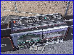 Sanyo M CD40 CD Portable Radio Cassette Recorder Vintage Boombox Made In Japan