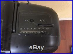 Sanyo MCD-Z31 AM FM CD Dual Cassette Player Recorder Boombox Portable Working