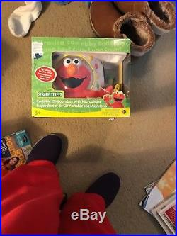 Sesame Street Big Bird Portable CD Boombox Withmicrophone Player Fit 10 CD Tested