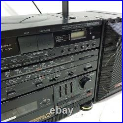 Sharp WF-CD77 Portable Stereo Component System CD Player Cassette Boombox FAULTY