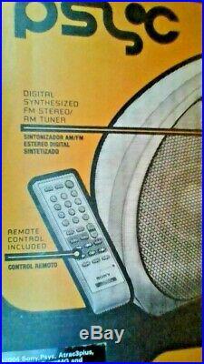 Sony ATRAC Psyc ZS-YN7PS CD PLAYER AM/FM Radio PORTABLE Boombox wireless remote