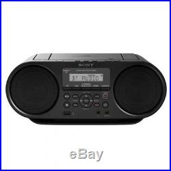 Sony Boombox CD AM FM Radio Stereo Player Portable With Bluetooth Wireless Black
