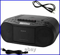 Sony CD Player Portable Boombox with AM/FM Radio & Cassette Tape Player Plus