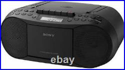 Sony CD Player Portable Boombox with AM/FM Radio Cassette Tape Player Plus A A