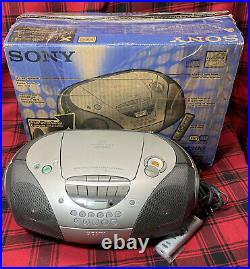Sony CD Radio Cassette Player CFD-S300 Boombox Portable Stereo with remote