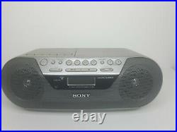 Sony CD Radio Cassette Player Corder Recorder Portable Boombox CFD-S05 TESTED