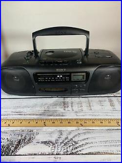 Sony CFD-10 Boombox Portable Stereo Recorder AM FM Radio CD Player Cassette