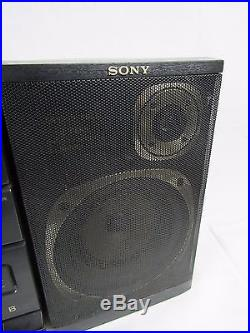Sony CFD-460 CD Player Radio Dual-Cassette Portable Boombox Removable Speakers