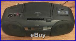 Sony CFD-6 Portable CD, Radio, Cassette Player/ Recorder Boombox Fully Working