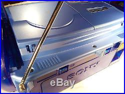 Sony CFD-922L Boombox Portable Stereo CD Radio Cassette Player Recorder BLUE