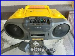 Sony CFD-970 Sports Portable CD Player AM FM Radio Cassette Tape Boombox
