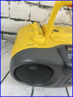 Sony CFD-970 Sports Portable CD Player AM FM Radio Cassette Tape Boombox Yellow