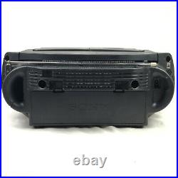 Sony CFD-G50 Boombox CD Radio Cassette Player Woofer Portable Tested Works
