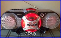 Sony CFD-G505 Portable CD AM/FM Tape Cassette Player MP3/USB Boombox