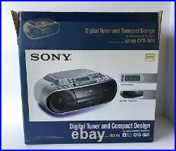 Sony CFD-S01 Boombox CD Player Radio Stereo Cassette Tape Portable New Open Box
