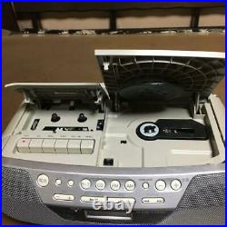 Sony CFD-S05 CD Player AM FM Radio Cassette Portable Stereo Boombox