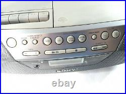 Sony CFD-S05 Stereo Boombox Portable Compact Disc Radio Cassette Player Recorder