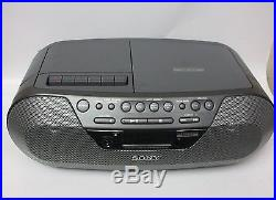 Sony CFD-S07 CD-R/RW Radio Cassette Player Boombox AM/FM MP3 Portable Stereo