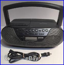 Sony CFD-S07CP CD Radio Cassette Recorder MP3 Player Portable Stereo Boombox