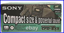 Sony CFD-S33 AM/FM Radio CD Cassette Player Mega Bass Portable Boombox + Remote