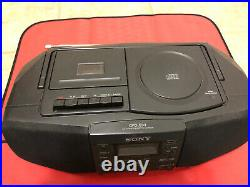 Sony CFD-S33 AM/FM Radio CD Cassette Player Mega Bass Portable Boombox Remote