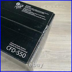 Sony CFD-S50 Portable CD Boombox Cassette AM/FM Stereo MP3 Player CD-R/RW NEW