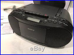 Sony CFD-S70 CD Cassette Tape Player AM/FM Radio Boombox NOS Stereo Portable