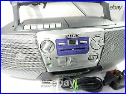Sony CFD-V7 Stereo Boombox Portable Compact Disc Radio Cassette Player Recorder