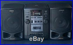 Sony CFD Z130 Boombox AM/FM CD Cassette Player Portable Boombox RARE